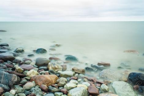 Rocks on the Shore at Lake Ontario