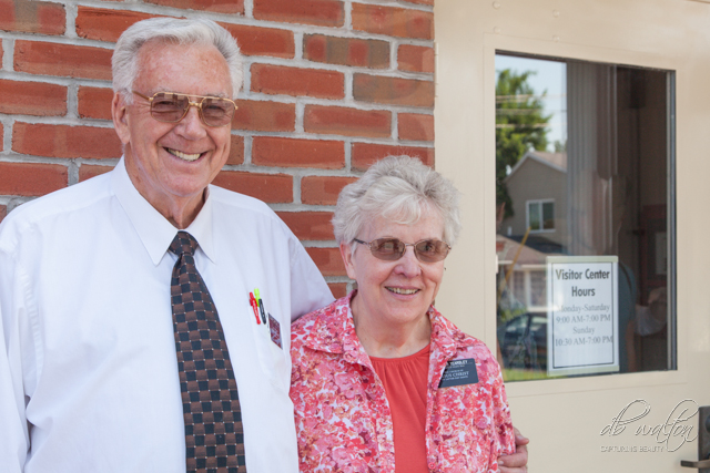 Senior Missionary Couple at Grandin Building