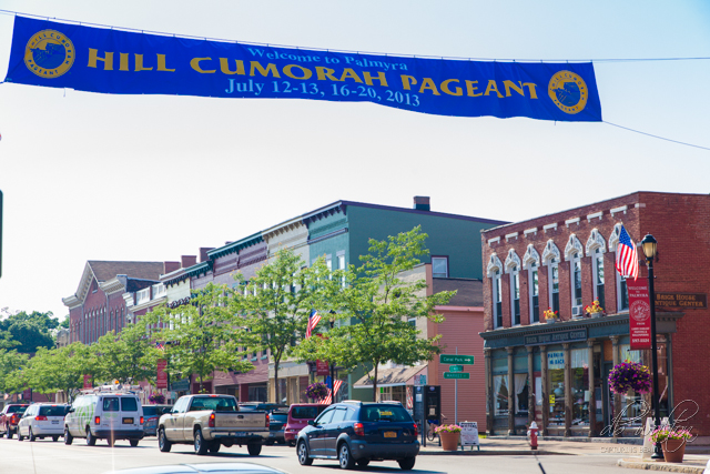 Pageant Banner Across Main Street (Grandin Building in background)